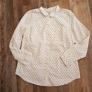 Old Navy Button Down Shirt Anchor Print Large